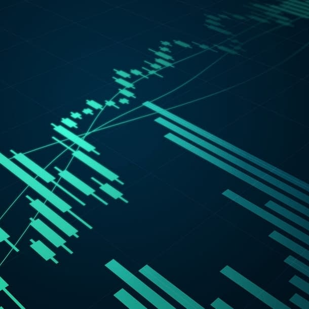 Stock market abstract background.